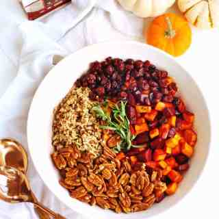 Sweet potato and beet wild rice salad with tarragon vinaigrette