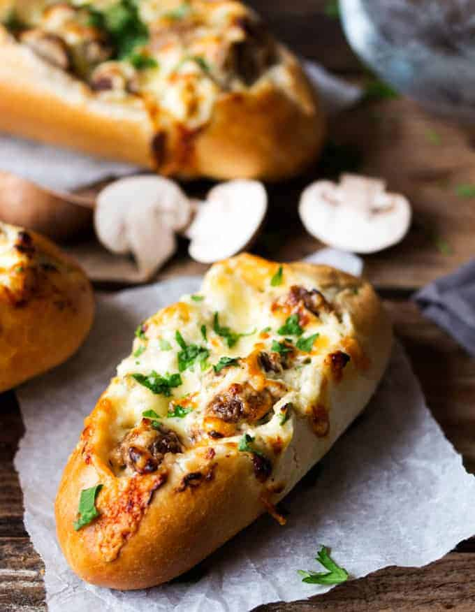 stuffed bread rolls + meatless monday recipes