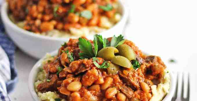 Instant Pot vegetarian cacciatore with white beans