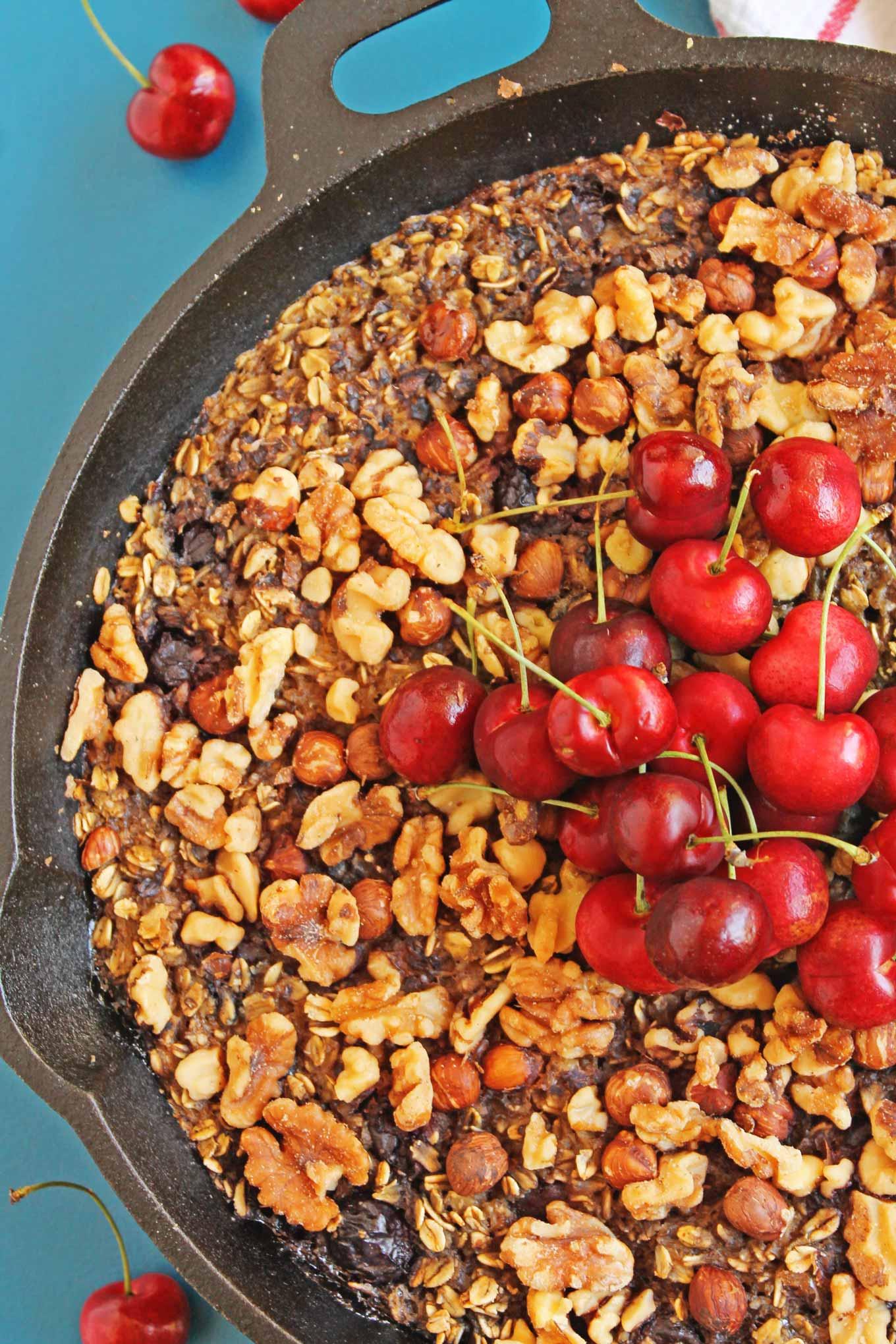 baked cherry oatmeal