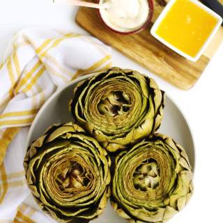 steamed artichokes with butter and mayo