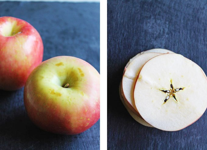 sliced apples for apple chips recipe