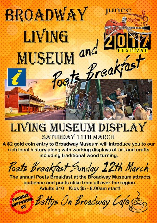 Broadway Living Museum and Poets Breakfast