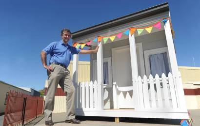 Builders embrace festival theme with railway replica cubby house