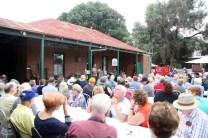 A full house enjoying the Poets' Breakfast