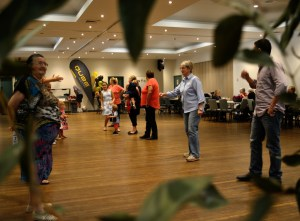Dance Line up at the Junee Bush Dance, held at the Junee Ex Services Memorial Club