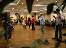 Dance Line up at Bush Dance, held at the Junee Ex Services Memorial Club