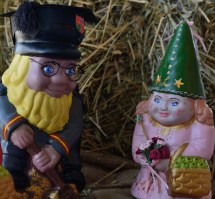 Some examples of the Gnomes entered into the Decor Gnome Challenge conducted by Junee Rotary