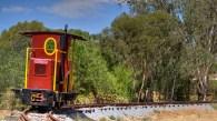 Ruston diesel locomotive operating at Pete's Hobby Railway