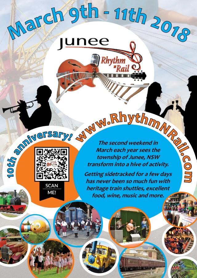 Junee Rhythm n Rail 2018 Poster