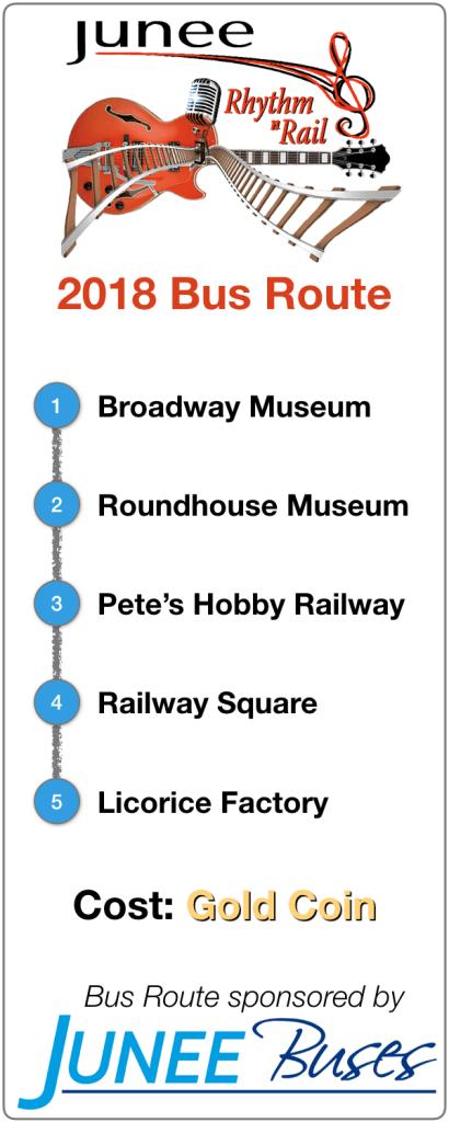 2018 Rhythm n Rail Festival Bus Route