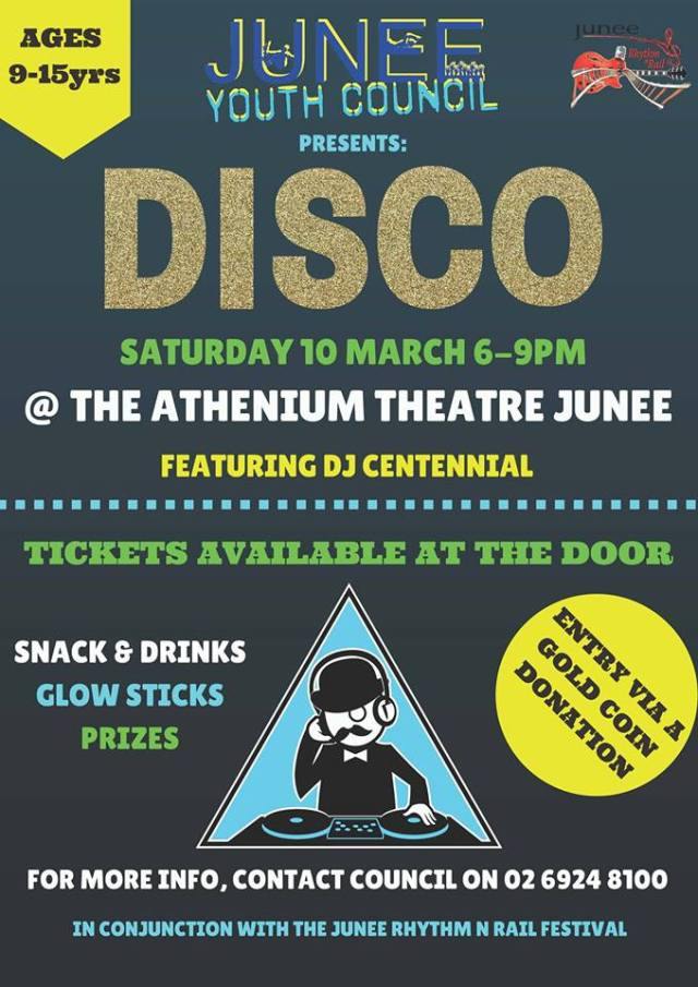Junee Youth Council Disco Flyer
