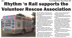 Rhythm n Rail supports the VRA, Your Local Wagga Weekly, February 2, 2018