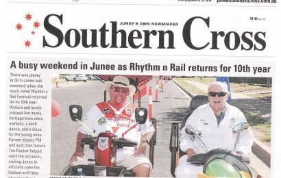 A busy weekend in Junee as Rhythm n Rail returns for 10th year