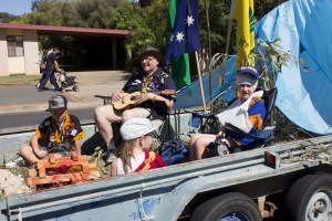1st Junee Scout Group Float in 2018 Junee Street Parade