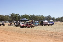 Days end at Illabo Motorsports Park -- cars being put back trailers and homeward bound