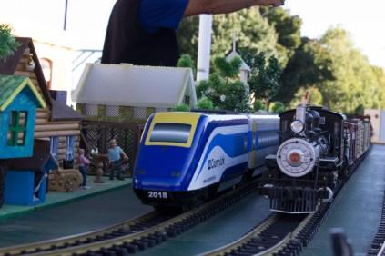 Small World G-Scale Model Train display in the Rail Precinct