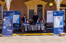 ARTC Inland Rail Information Stand in Rail Precinct