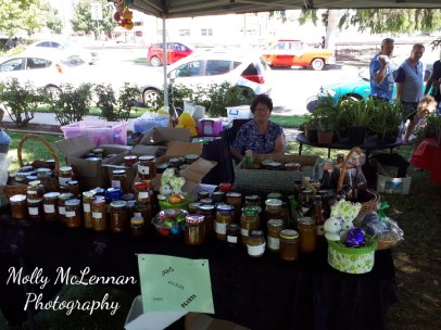 Homemade jams, pickles and cakes -- just some of the goodies on sale at the Festival Markets