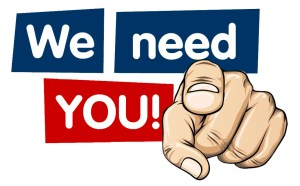 We Need You! Volunteer Sign
