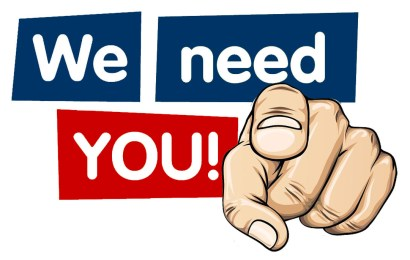 We Need You! Volunteer Sign