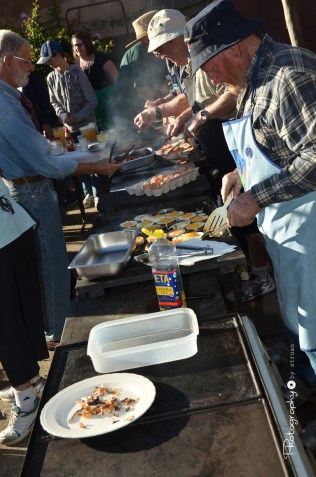 Cooking breakfast for the crowds at the Poet's Breakfast [2015 Rhythm n Rail]