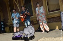 Buskers performing in Railway Square [2015 Rhythm n Rail]