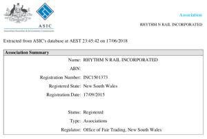 Rhythm n Rail ASIC Record