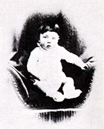 Fotografia di Hitler bambino, datata intorno al 1891.