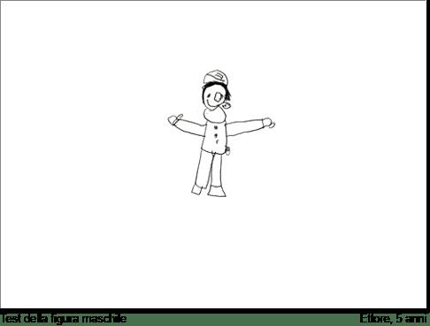 Ettore, 5 anni, disegna una figura maschile