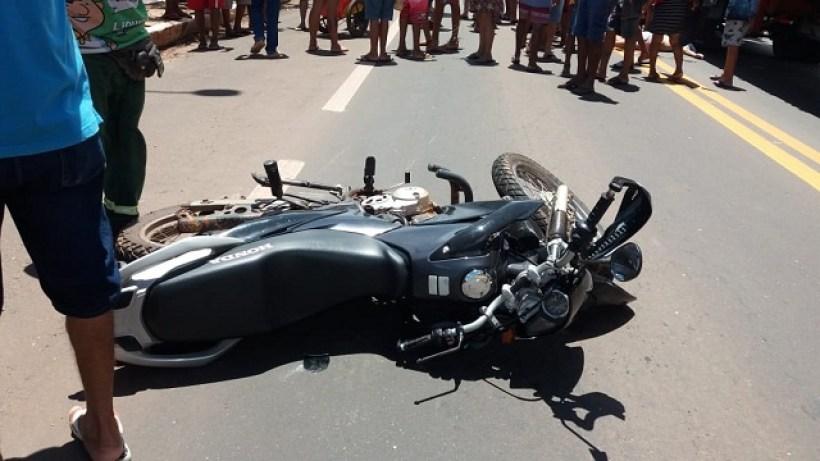 Moto envolvida no acidente na BR 316