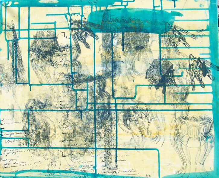3 Installatie Geheimen van de Zee, paneel 10 (60 bij 50cm)