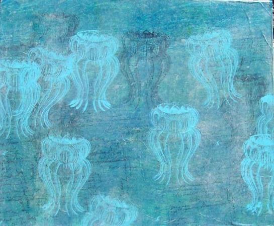 3 Installatie Geheimen van de Zee, paneel 12 (60 bij 50cm)