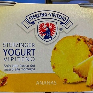 yogurt vipiteno all'ananas