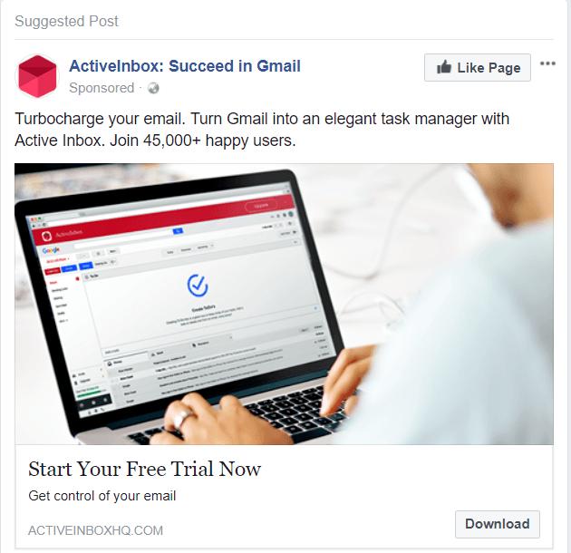 Facebook Ad Sample