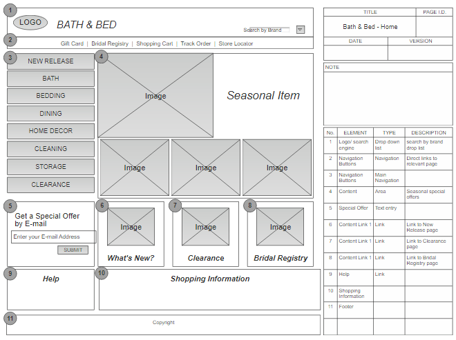 Website Wireframe Sample
