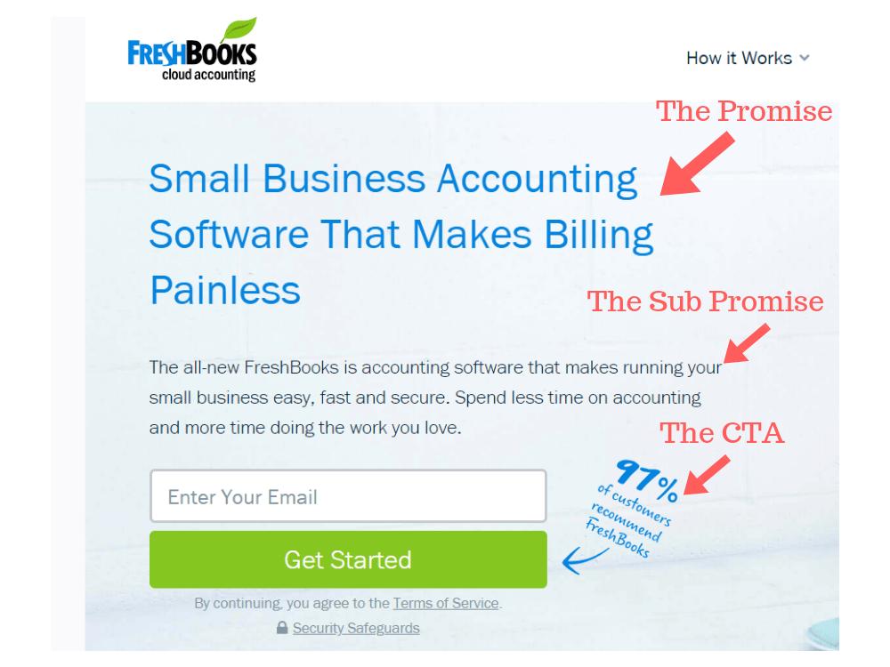Freshbooks Website Example