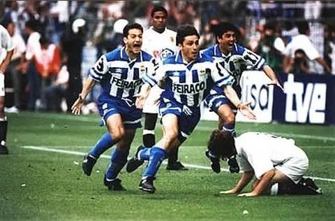 Le llevó tres días, pero el Depor derrotó al Valencia y ganó su primer título de la Copa del Rey en 1995. Fuente: Deportivo-La-Coruna.com