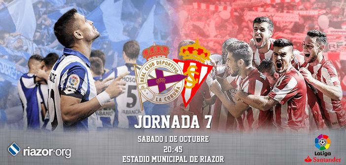 Jornada 7 Liga Santander 2016/17 Deportivo de La Coruña Sporting de Gijón