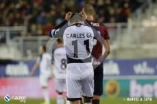 Carles Gil volvió a ser titular después de superar una lesión.
