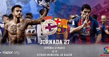 Jornada 27 Liga Santander Deportivo de La Coruña FC Barcelona