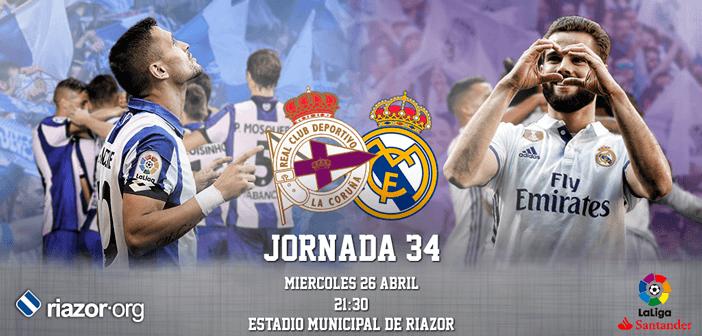 Jornada 34 Liga Santander Deportivo de La Coruña Real Madrid