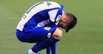Carles Gil se lamenta tras una ocasión fallada en un partido con el Deportivo