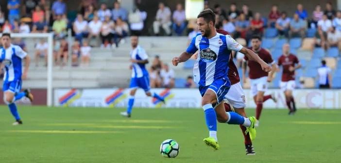 Florin Andone en amistos Pontevedra Depor