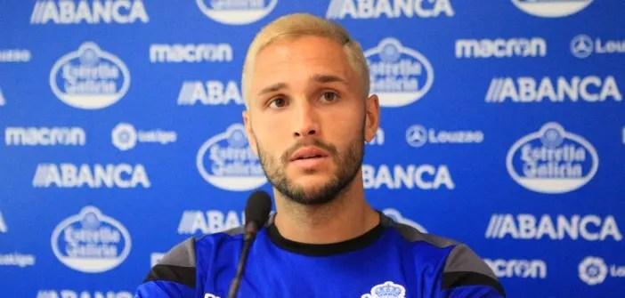 Florin Andone en sala de prensa