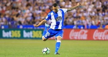 Guilherme disparando: Deportivo - Real Madrid