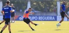 Guilherme disparando entrenamiento Deportivo Coruña 22 de agosto 2017