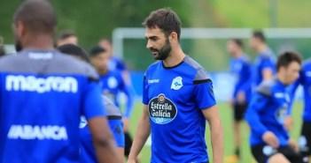 Adrián López entrenamiento Deportivo 24 de agosto 2017