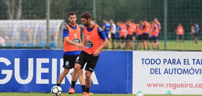 Primer entrenamiento de Adrián López