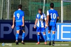 Fabril - Valladolid B: Celebración de gol Borja Galán